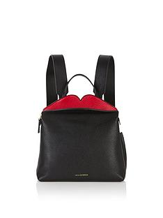 lulu-guinness-val-peekaboo-lip-backpack-black