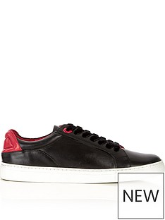 lulu-guinness-natasha-lips-leather-trainers-black