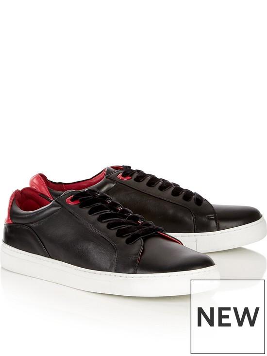 e93a76da5 Natasha Lips Leather Trainers - Black