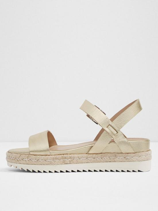 b40a85e06e0d ... Aldo Thialle Weaved Flat Platform Sandals - Gold. 5 people have looked  at this in the last couple of hrs.