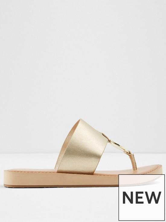 db3e0489ba1818 Aldo Yilania Flip Flop Sandal - Gold