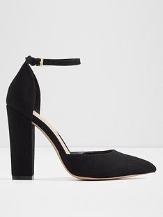 0dad18acf42 Aldo Nicholes Block Heel Court Shoes- Black