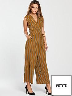 ax-paris-petite-striped-jumpsuit-mustard