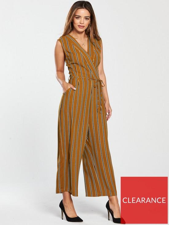 dccf8c97f AX Paris Petite Striped Jumpsuit - Mustard | very.co.uk
