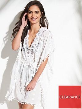 v-by-very-crochet-embroidered-drawcord-kaftan-ndash-white