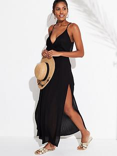 v-by-very-maxi-cut-out-back-beach-dress-black