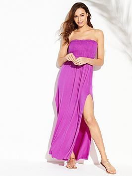 v-by-very-jersey-shirred-bandeau-beach-maxi-dress-bright-purple