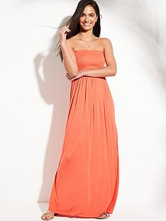 bb6d3b1b969 V by Very Jersey Shirred Bandeau Beach Maxi Dress