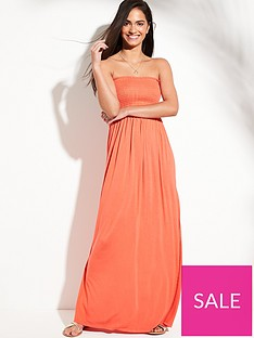 v-by-very-jersey-shirred-bandeau-beach-maxi-dress