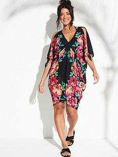 v-by-very-floral-placement-print-kaftan-black-floral