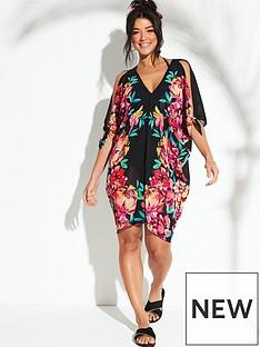v-by-very-floral-placement-print-kaftan-black-floral