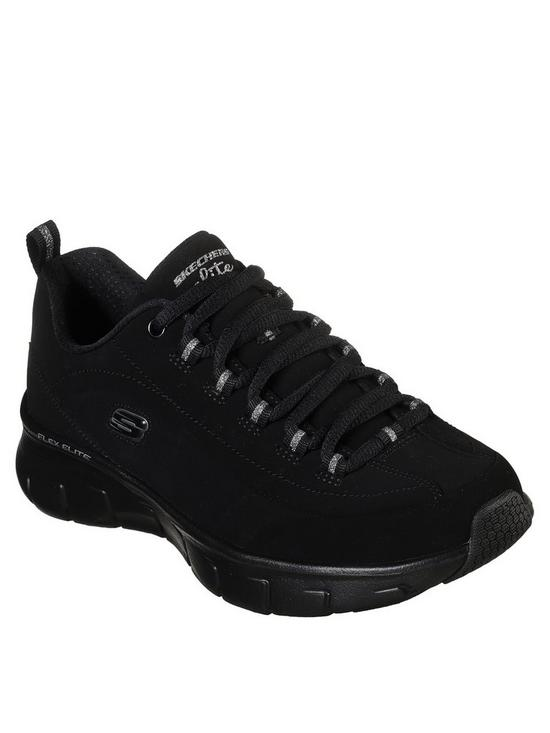 8795f2f23 Skechers Synergy 3.0 Out   About Bungee Lace Trainers - Black