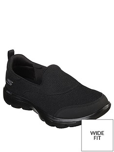 skechers-wide-fit-go-walk-evolution-ultra-reach-mesh-trainers-black