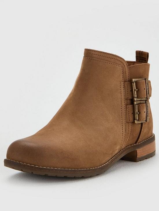 fa731ef6a61736 Barbour Sarah Low Buckle Boot Ankle Boot - Cognac