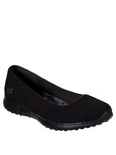 check out 35635 cc09e Skechers Microburst Ballerina Shoes - Black