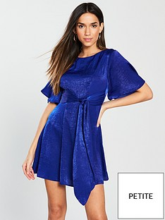 v-by-very-petite-tie-waist-skater-dress-blue