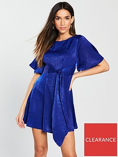 v-by-very-petite-tie-waist-skater-dress-blue