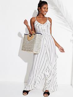 v-by-very-jersey-dipped-hem-frill-trim-maxi-beach-dress-stripe