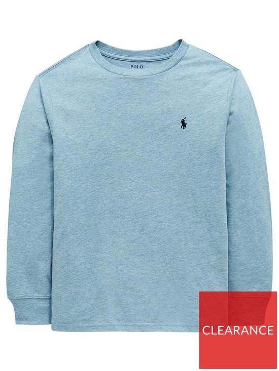 6d0f9df8db5 Ralph Lauren Boys Classic Long Sleeve T-Shirt - Light Blue | very.co.uk
