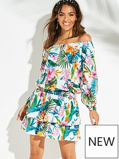 v-by-very-off-the-shoulder-tiered-beach-dress-white-tropical