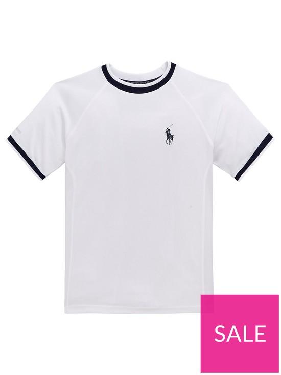 3ee6bce4692 Ralph Lauren Boys Short Sleeve Sport T-shirt - White | very.co.uk