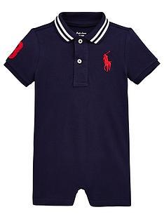 976a2a666a4f05 Ralph Lauren Baby Boys Big Pony Romper Suit - Navy