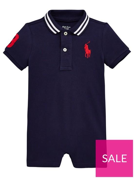 9df10226f Ralph Lauren Baby Boys Big Pony Romper Suit - Navy | very.co.uk
