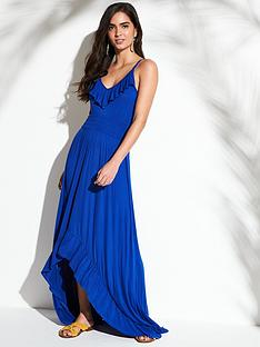 v-by-very-jersey-dipped-hem-frill-trim-maxi-beach-dress