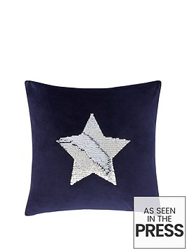 catherine-lansfield-sequin-star-cushion