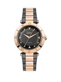 vivienne-westwood-montagu-gunmetal-grey-and-rose-gold-detail-dial-two-tone-stainless-steel-bracelet-ladies-watch