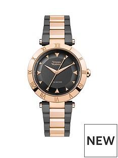 vivienne-westwood-montagu-gunmetal-grey-and-rose-gold-detail-dial-two-tone-stainless-steel-bracelet-ladies-watch