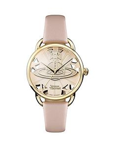 vivienne-westwood-vivienne-westwood-leadenhall-gold-textured-logo-and-cut-out-detail-dial-pink-leather-strap-ladies-watch
