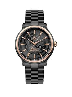 vivienne-westwood-shoreditch-black-lace-and-rose-gold-detail-dial-black-stainless-steel-bracelet-watch-black
