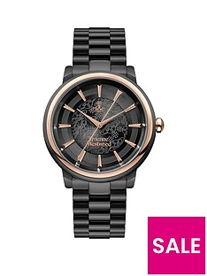 vivienne-westwood-vivienne-westwood-shoreditch-black-lace-and-rose-gold-detail-dial-black-stainless-steel-bracelet-watch