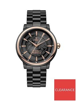 vivienne-westwood-vivienne-westwood-shoreditch-black-lace-and-rose-gold-detail-dial-black-stainless-steel-bracelet-watch