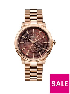 vivienne-westwood-shoreditch-dark-red-lace-and-rose-gold-detail-dial-rose-gold-stainless-steel-bracelet-ladies-watch