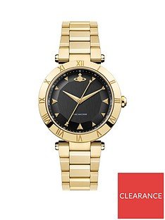 vivienne-westwood-montagu-black-and-gold-detail-dial-gold-stainless-steel-bracelet-ladies-watch