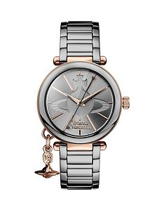 vivienne-westwood-vivienne-westwood-kensington-silver-texured-logo-and-rose-gold-plated-detail-dial-and-charm-stainless-steel-bracelet-ladies-watch