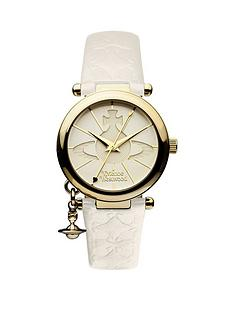 vivienne-westwood-orb-ii-white-and-gold-logo-dial-gold-plated-case-and-charm-white-leather-strap-ladies-watch