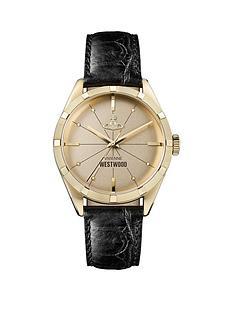 vivienne-westwood-vivienne-westwood-conduit-gold-logo-dial-black-leather-strap-mens-watch