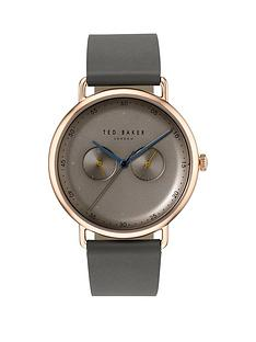 ted-baker-ted-baker-silver-with-orange-and-blue-detail-dial-green-leather-strap-mens-watch