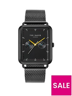 ted-baker-ted-baker-black-rectangular-dial-black-stainless-steel-mesh-mens-watch