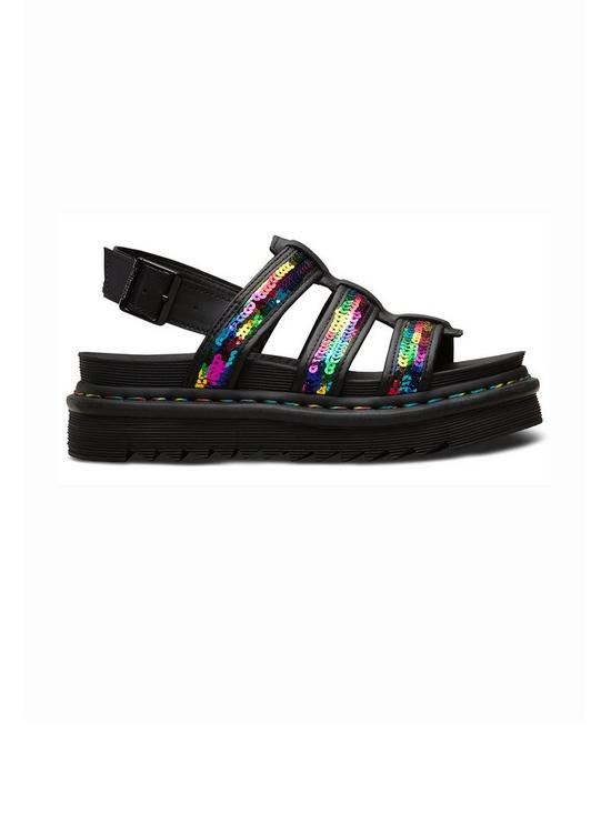 7404ee33e6a18d Dr Martens Yelena Sequin Flat Sandals - Rainbow | very.co.uk