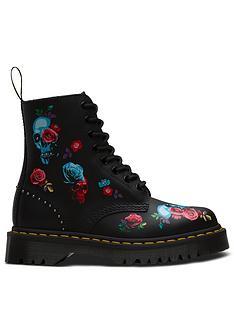 c2ddc55480115 Dr Martens 1460 Bex Rose 8 Eye Ankle Boots - Black