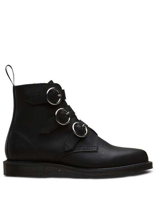 578e4af4420 Dr Martens Maudie Buckle Ankle Boots - Black | very.co.uk
