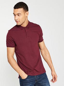 v-by-very-short-sleeved-pique-polo-shirt-burgundy