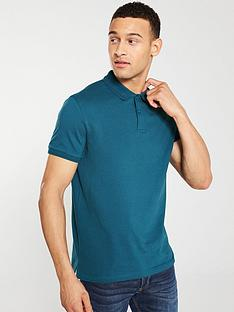 v-by-very-pique-polo-shirt-kingfisher