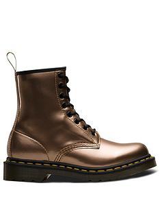 8bab8b09ea4 Dr Martens 1460 Vegan 8 Eye Ankle Boots - Rose Gold