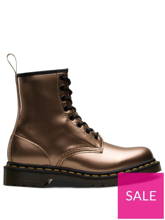 5d5bac562ea Dr Martens 1460 Vegan 8 Eye Ankle Boots - Rose Gold | very.co.uk