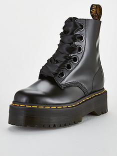 385c0757a4a Dr Martens Molly 8 Eye Ankle Boots - Black